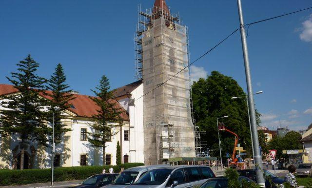 Kostol Vranov n./T.Medená strecha
